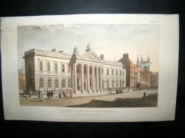 Ackermann 1810 Hand Col Print. India House, London